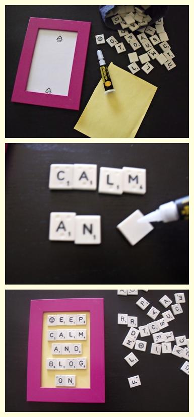 DIY Scrabble Art